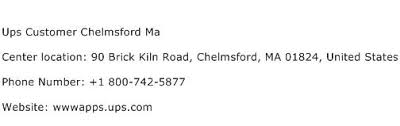 ups customer service ups customer chelmsford ma service center phone number description