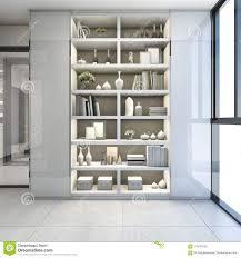 3d Die Modernes Regal übertragen Entwerfen Im Nahen Korridor Und