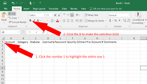 How To Use Excel As A Password Keeper Free Template