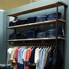 wall clothing racks industrial pipe clothing rack large wall rack wall mounted closet racks