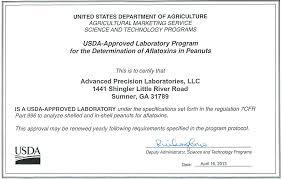 Advanced Precision Laboratories Llc Certifications