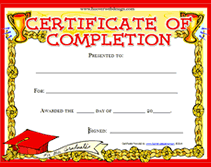 sample certificates of completion printable certificates completion download them or print