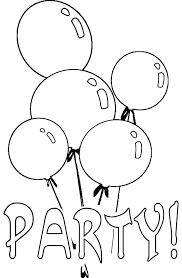 coloring pages free balloon coloring pages balloons birthday party page sky hot air color