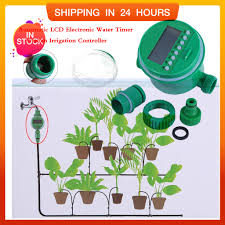 ready stock  <b>Automatic LCD Electronic</b> Water Timer Garden Irrigation ...