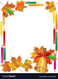 school autumn frame vector image