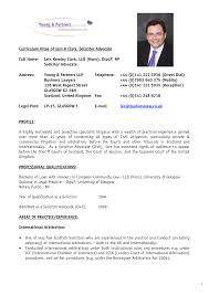 Cv Resume Example Pdf Curriculum Vitae Format For Lawyers Cv