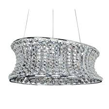 oval drum chandelier by chrome light oval drum pendant with clear crystal large oval drum chandelier