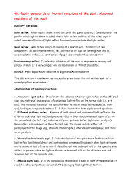 Amaurotic Light Reflex 49 Grade 5 Ophthalmology Studocu