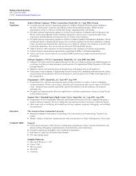 Software Engineer Resume Cover Letter Entry Level Software