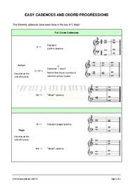 Easy N Fun Easy Cadence Chart By Easy N Fun Piano Tpt