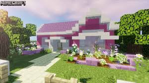 A cute pink house, room pink and bathroom pink to improve your minecraft kawaii world! Minecraft Pretty Pink Girly Suburban House Tutorial Youtube