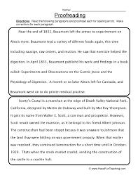 Spelling Correction Worksheets Free Worksheets Library   Download ...