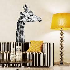 Black And White Giraffe Wall Sticker   Oakdene Designs   1