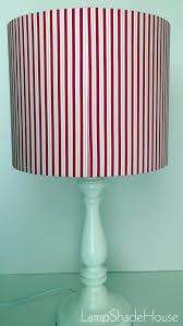 red grey white stripes medium lamp shade