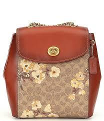 coach signature coated canvas prairie fl print parker backpack dillard s