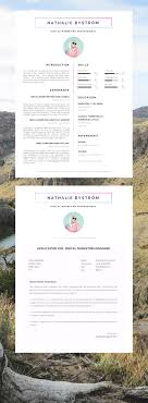 2 Page Resume Template Word Creative CV Template for Word Résumé Template for Word Cover 47