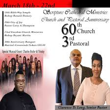 60th Church 3rd Pastoral Banquet Scripture Cathedral Ministries