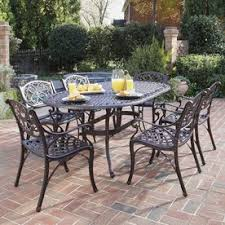 display product reviews for biscayne 7piece bronze metal frame patio dining set outdoor patio dining sets n51
