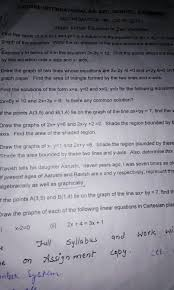 solve this topic linear equation in variables value of k and fl is a soluuon of the e an yaph of the equation write the co ordinate of the point whse