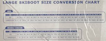 Youth Ski Boot Size Conversion Chart 11 Timeless Ski Boot Conversion