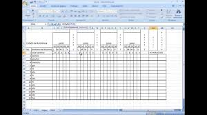 formato de asistencias formato de asistencia en excel youtube