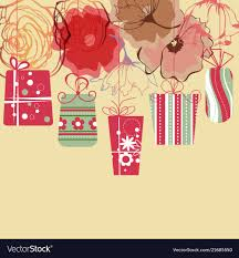 Floral Design Gift Boxes Hanging Gift Boxes Background Floral Decorative