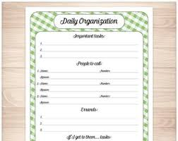 Nanny To Do List Template Blue Printable Daily Task Sheet Blue Gingham Full Page Etsy