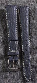details about rare vintage zenith genuine leather blue shark skin 15mm watch band with buckle