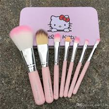 o kitty make up cosmetic brush kit o kitty makeup brushes pink and black iron case