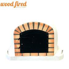 wood oven door white fired pizza orange arch black doors cast iron brick traditional outdoor plans