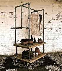 Vintage Coat Rack With Shelf American antique wrought iron floor coat rack clothing rack clothing 98