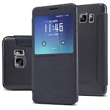 samsung side flip phones. nillkin sparkle series fashion side flip faux leather case for samsung galaxy note 5 - black phones
