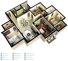 modern design for a 3 bedroom flat