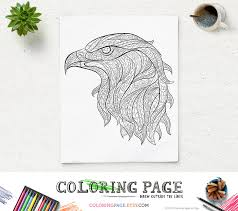 Small Picture Printable Coloring Pages Eagle Head Animal Coloring Page Adult