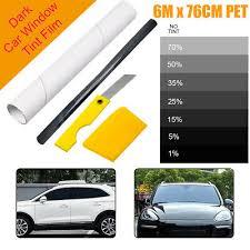 PRO LIMO BLACK <b>1</b>%-70% <b>CAR</b> WINDOW TINT <b>ROLL 6m</b> x 76 cm ...