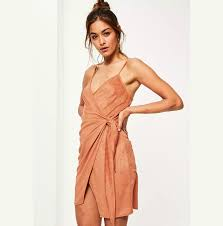 Suede Dress For Women <b>Summer</b> Fashion <b>Suspender</b> Ties Design ...