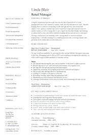 Retail Manager Resume Examples Unique Retail Manager Resumes Retail Manager Resume Example Retail Manager