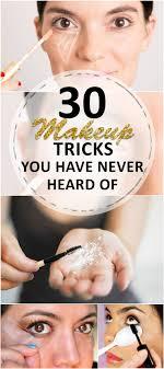 30 makeup tricks you have never heard of