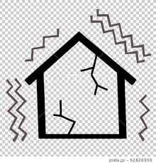Polish your personal project or design with these earthquake. House Earthquake Line Drawing Stock Illustration 62826950 Pixta