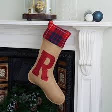 christmas stocking with glitter initial by harrow & green ...