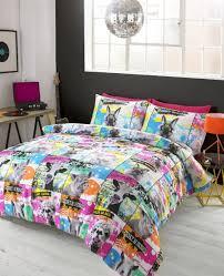 bedding vinyl neon funky duvet cover set 52 percent polyester 48