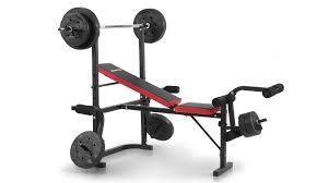 Weights Measures Chart Powertrain Home Gym Bench Press With 45kg Weights