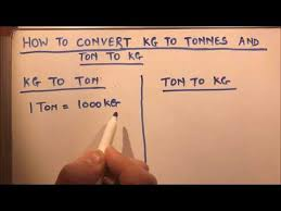 Ton Conversion Chart How To Convert Kg To Tonnes And Tonnes To Kg Youtube