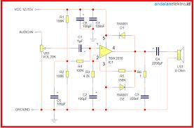 Gelombang radio merupakan sebentuk radiasi elektromagnetik (electromagnetic radiation) yang tak terlihat. Skema Rangkaian Power Amplifier Tda 2030 Watt Single Supply Sederhana Andalan Elektro
