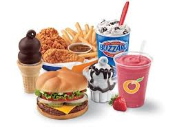 Dairy Queen Menu Calories Chart Nutrition Dairy Queen
