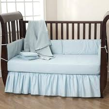 blue cribs bedding sets by baby company solid blue 5 piece baby crib bedding set