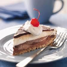 Black bottom ice cream pie