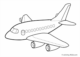 Small Picture Cute Coloring Airplane Airplane Coloring Page For Toddlers