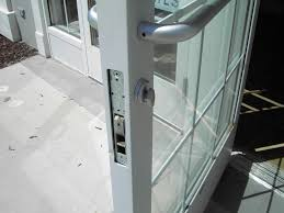 commercial glass door with latch