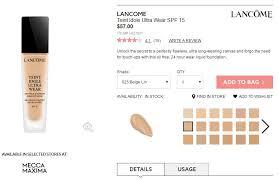 Lancome Teint Idole Foundation Color Chart